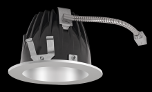 "RAB Lighting NDLED4R-80YN-M-S - FINISHING SEC 4"" ROUND 3500K LED 80 DEGREES MATTE CONE SILVER RING"