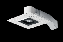 "RAB Lighting RDLED2S8-30Y-TLB - REMODELER 2"" SQUARE 8W 3000K DIMMABLE TRIAC 30 DEGREES TRIMLESS BLACK RING"