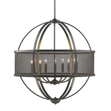Golden 3167-9 EB-EB - 9 Light Chandelier (with shade)