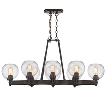 Golden 4855-LP RBZ-SD - 8 Light Linear Pendant
