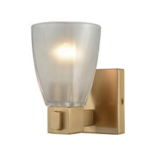 ELK Lighting 11990/1 - Ensley 1 Light Vanity In Satin Brass With Froste
