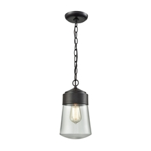 ELK Lighting 45118/1 - Mullen Gate 1 Light Outdoor Pendant In Oil Rubbe